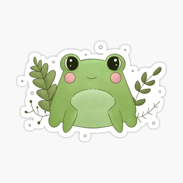 Cute Lil' Frog Sticker