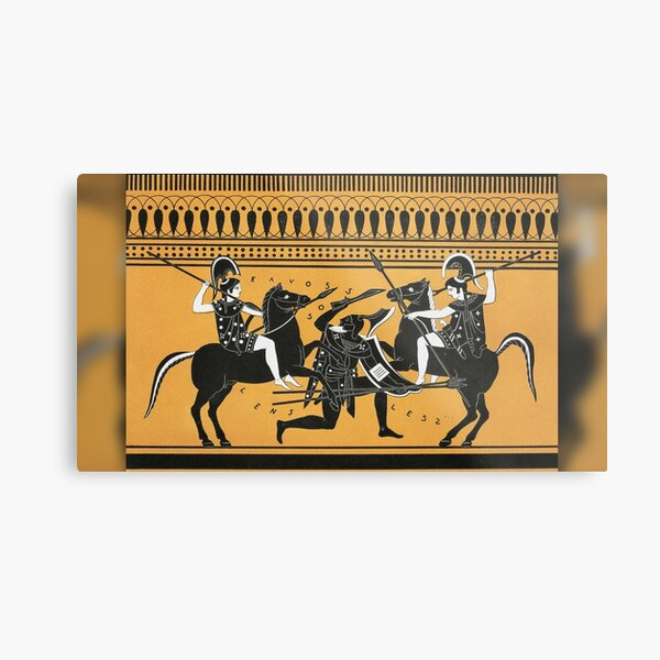 Did the Amazon female warriors from Greek mythology really exist? Metal Print