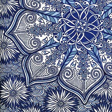 Blue Flowers by buggybear