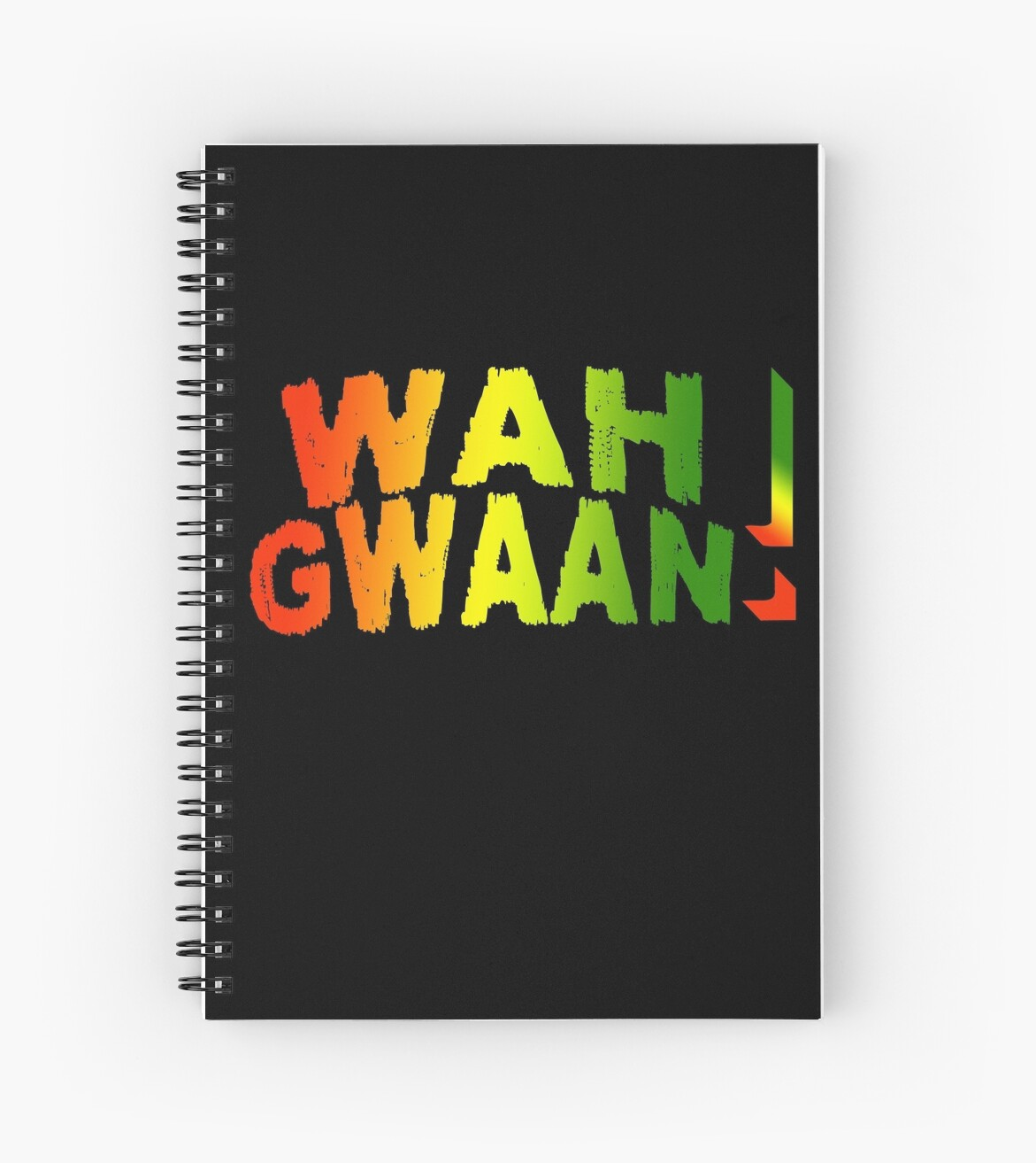 Wah Gwaan Jamaican Style Spiral Notebooks By Charles Mac Redbubble