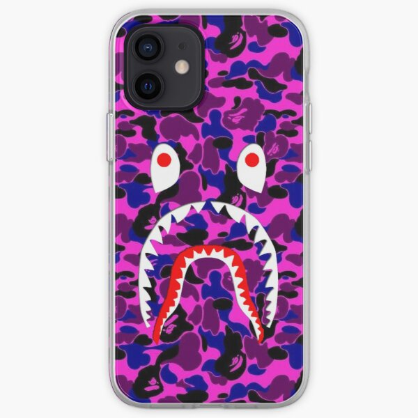 Blue And Pink Camouflage Bape iPhone Soft Case