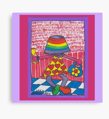 Lampshade Lee :: v2 Canvas Print
