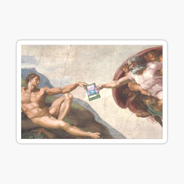 The Creation of Adam (Michelangelo) - Amstrad inspiration Sticker