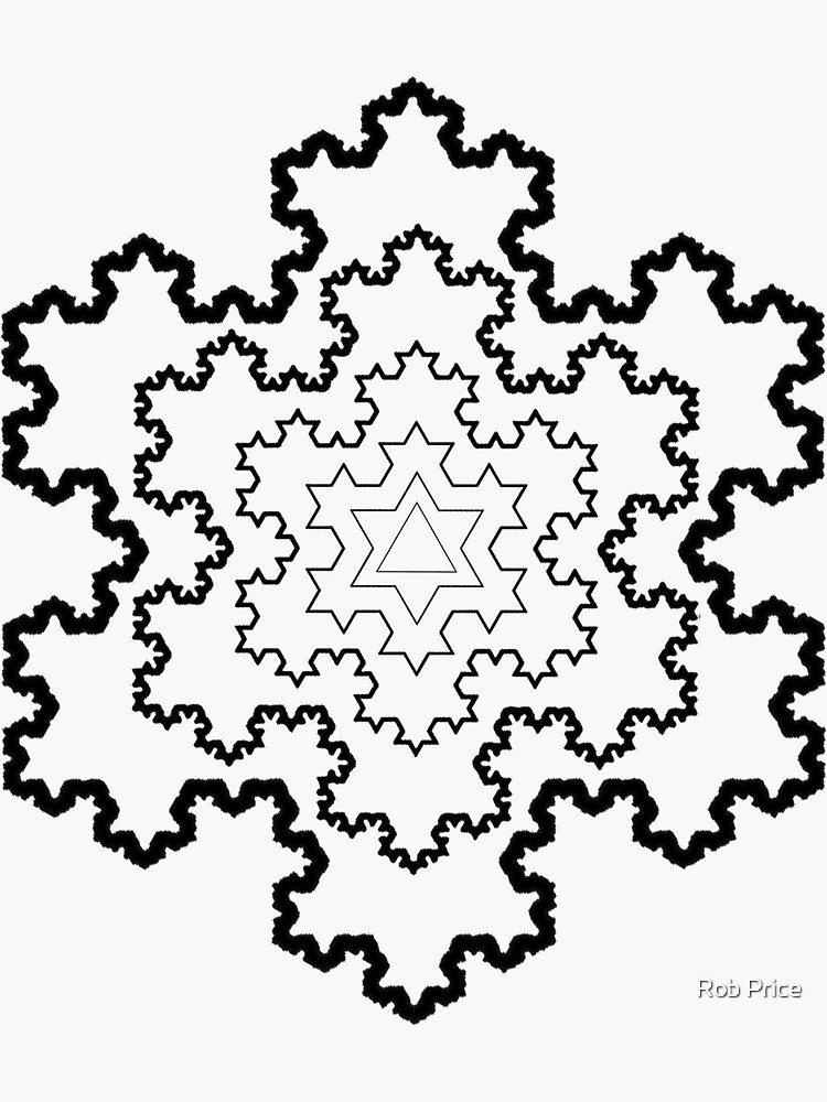 The Koch Snowflake by wanungara