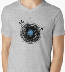 Enchanting Vinyl Record Grunge Vintage Men's V-Neck T-Shirt