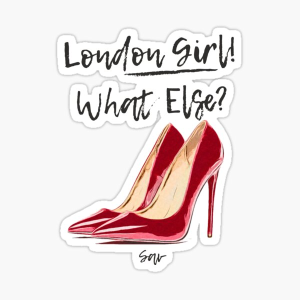 London Girl Sticker