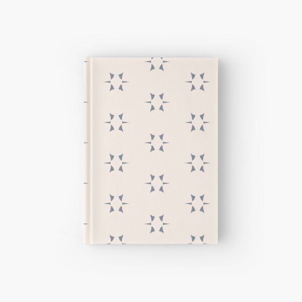 Cottagecore Neutral Grey Star Hardcover Journal