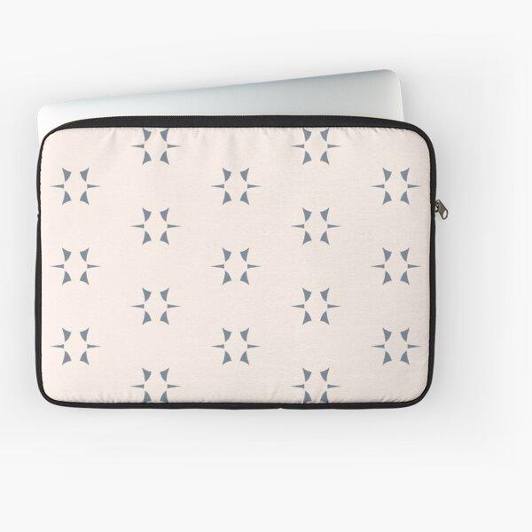 Cottagecore Neutral Grey Star Laptop Sleeve
