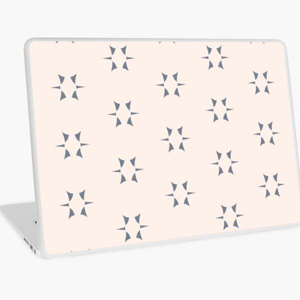Cottagecore Neutral Grey Star Laptop Skin