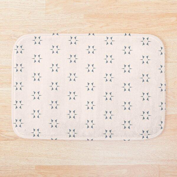 Cottagecore Neutral Grey Star Bath Mat