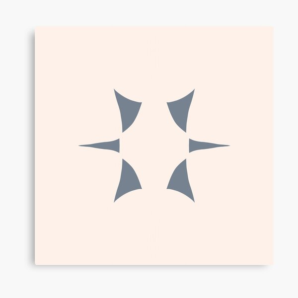 Cottagecore Neutral Grey Star Canvas Print