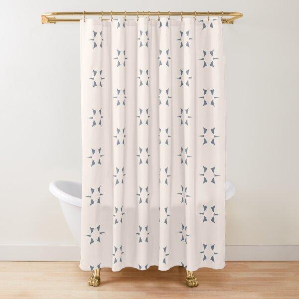 Cottagecore Neutral Grey Star Shower Curtain