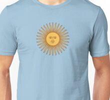 Argentina Flag T-Shirt Argentine Bedspread Sol De Mayo - Sun of May Unisex T-Shirt