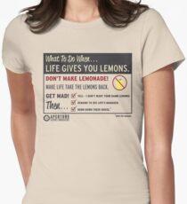 Lemons, portal 2 Women's Fitted T-Shirt