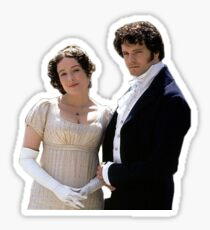 Elizabeth and Darcy circa 1995 Sticker
