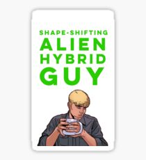 Shape-Shifting Alien Hybrid Guy Sticker