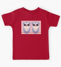 TWIN BLUE OWLETS Kids Tee