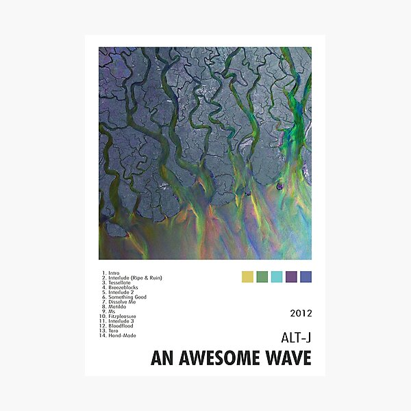 Alt-J - An Awesome Wave Poster Photographic Print