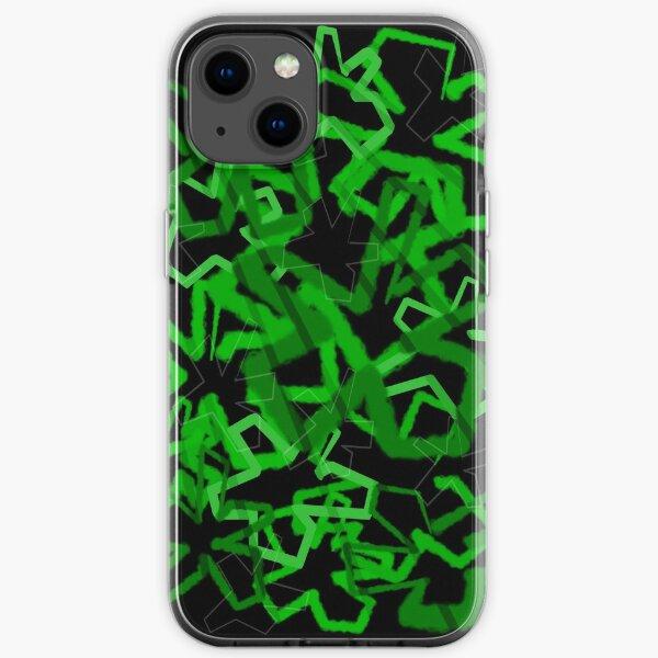 Funky Green Graffiti Flowers iPhone Soft Case