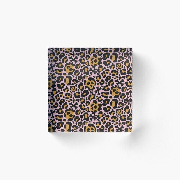 Skull Leopard Print - OG Acrylic Block