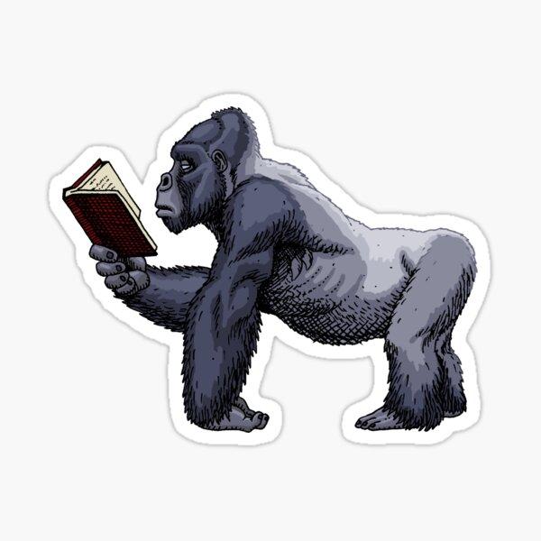 Silberrücken lesen Sticker