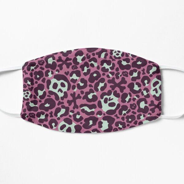 Skull Leopard Print - Plum & Mint Flat Mask