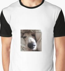 Adorable Basset Hound Wants A Long Vacation. Graphic T-Shirt