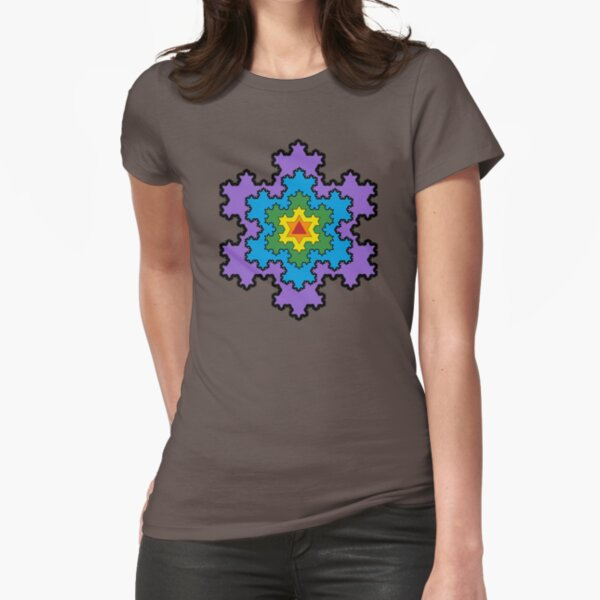 The Koch Snowflake Fitted T-Shirt