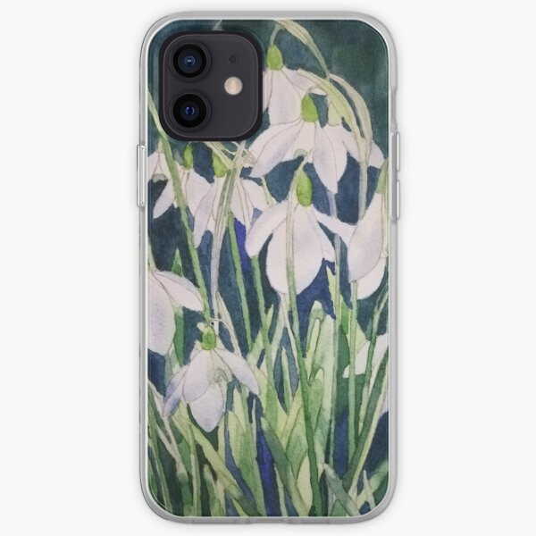 Snowdrops watercolour painting  iPhone Soft Case
