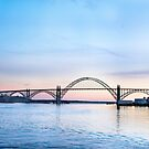 Yaquina Bay Bridge at Sunset, Newport, Oregon by Doug Graybeal