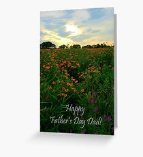 Sunset Meadow Father's Day Dad Greeting Card