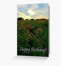 Sunset Meadow Birthday Greeting Card