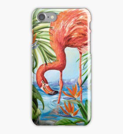 Flamingo Beach Revisited iPhone Case/Skin