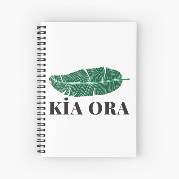 Kia ora and green silvern fern lovers Spiral Notebook