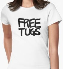 FREE TUGS (black) Women's Fitted T-Shirt