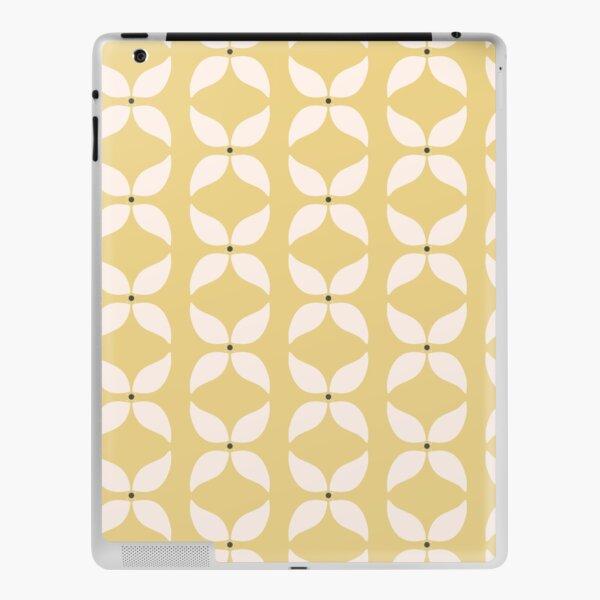 Cottagecore Yellow and White Geometric Flower Pattern iPad Skin