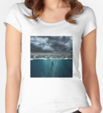 Spearfishing Women's Fitted Scoop T-Shirt