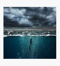 Spearfishing Photographic Print