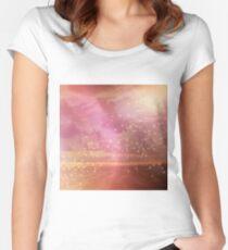 Ocean sunset glow Women's Fitted Scoop T-Shirt