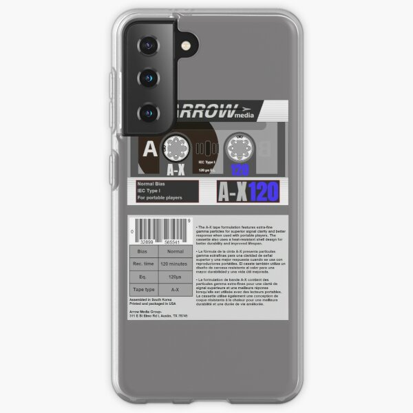 Arrow Media A-X 120 type 1 cassette (front and back) Samsung Galaxy Soft Case
