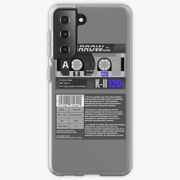Arrow Media K-II 120 type 2 cassette (front and back) Samsung Galaxy Soft Case