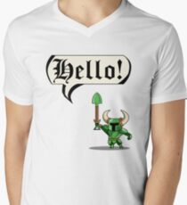 HELLO! Men's V-Neck T-Shirt