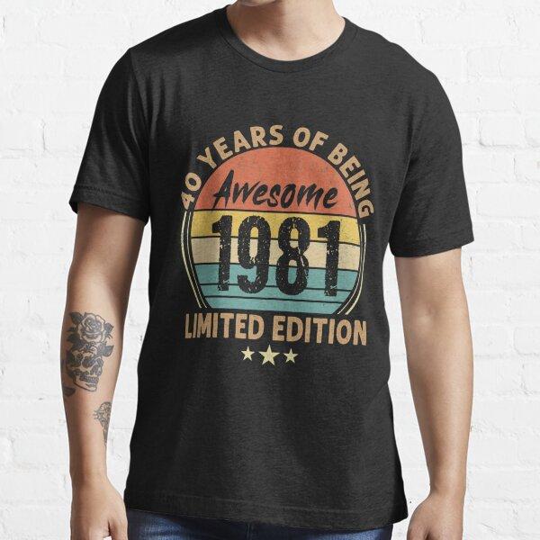 40th Birthday Retro Limited Edition 1981 Quarantine Birthday Essential T-Shirt