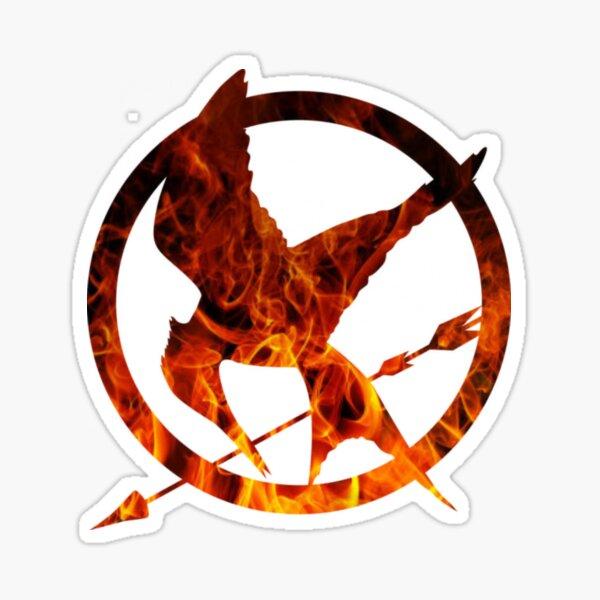 Hunger Games Mockingjay Fire Sticker