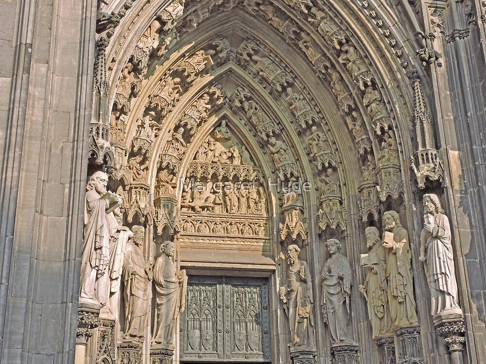 Entrance, Cologne Cathedral, Germany by Margaret  Hyde