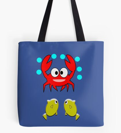 crab & 2 fish (7646 Views) Tote Bag