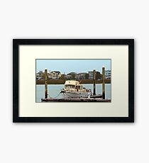 Rusty Old Boat Framed Print