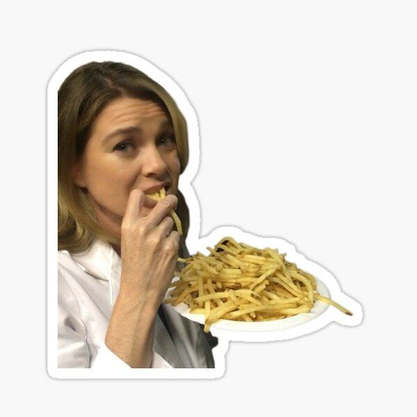 Ellen y papas fritas Pegatina