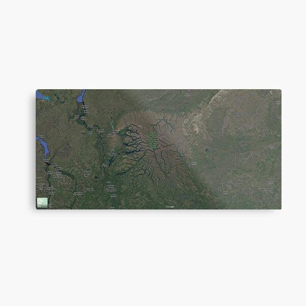 The Putorana Plateau (Плато Путорана, Plato Putorana), Putorana Mountains Metal Print