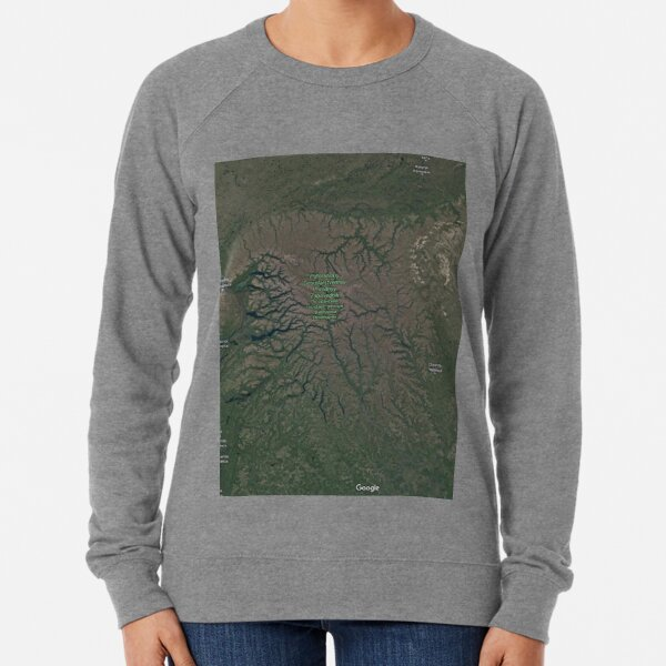 The Putorana Plateau (Плато Путорана, Plato Putorana), Putorana Mountains Lightweight Sweatshirt